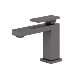 misturador monocomando para lavatorio de mesa docol new edge grafite escovado 00925370
