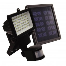 refletor led solar ecoforce com sensor luz branca 600 lumens 6 000k com painel solar