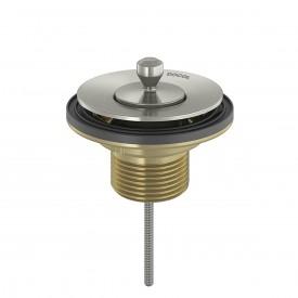 valvula saida d agua universal docol tampa de metal niquel escovado 00486306