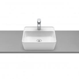 cuba de apoio com mesa roca optica 42 x 42 cm cq42 branco 1