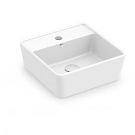 cuba de apoio com mesa roca optica 35 x 35 cm cq35 branco