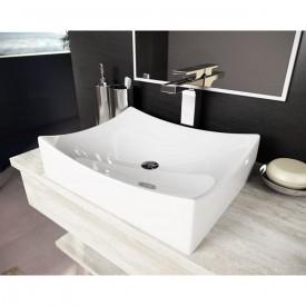 cuba de apoio com mesa lavatorio padua 45 cm branco