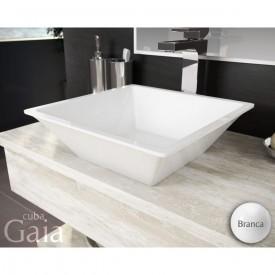 cuba de apoio com mesa lavatorio gaia 36 cm branco