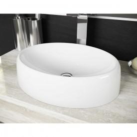 cuba de apoio redonda lavatorio luzza 39 cm branco