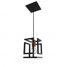 pendente orluce box 1xe27 or514 preto fosco bronze