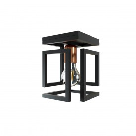plafon orluce box 1xe27 or1092 preto fosco bronze