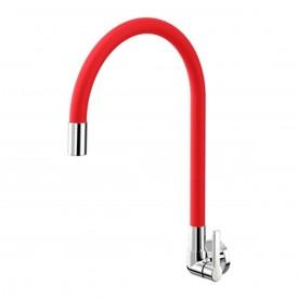 torneira cozinha parede docol galiflex vermelho cromado 00967479 2